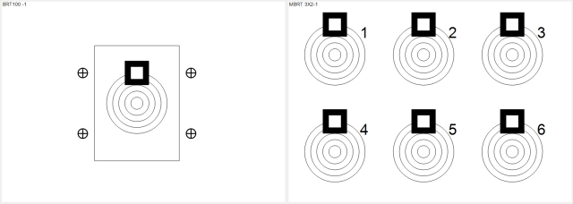 bench rest targets