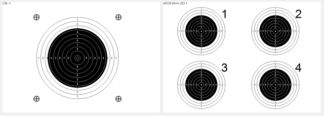 target sheets with single or multiple targets