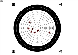 e-sniper target with shots